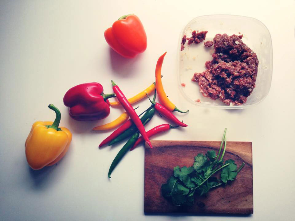 Mett-gefuellte Paprika, Zutaten